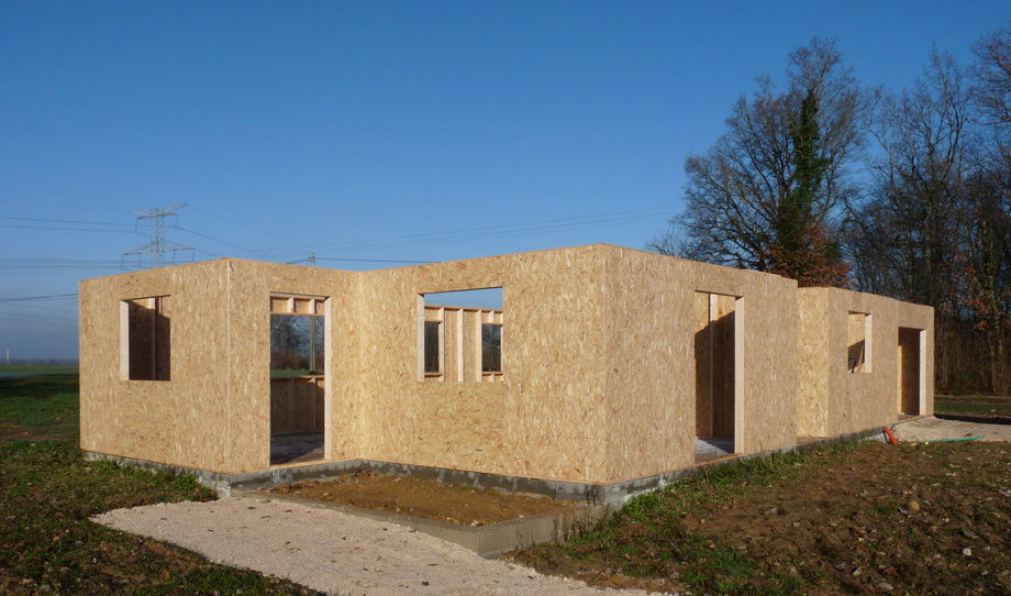 Principe de construction de la maison ossature bois for Construction bois yvetot