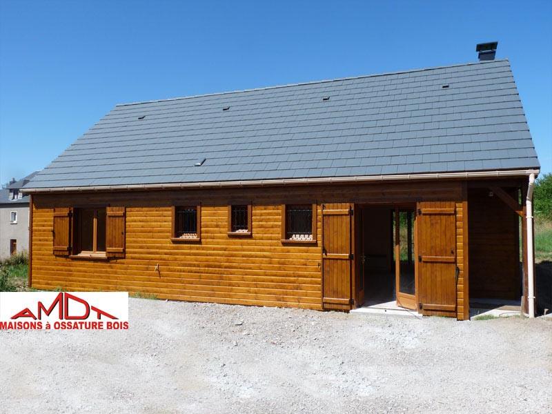 Amdt constructeur de maisons ossature bois loiret 45 for Maison contemporaine loiret